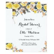 Yellow Floral Bridal Shower