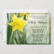 Yellow Spring Daffodil Bridal Shower Invitation