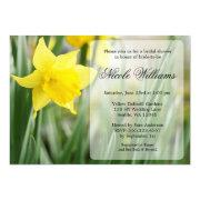Yellow Spring Daffodil Bridal Shower Invitation
