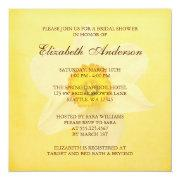 Yellow Spring Daffodil Flower Bridal Shower Personalized Invite