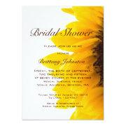 Yellow Sunflower Modern Bridal Shower