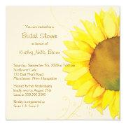 Yellow Sunflower & Swirls Floral Bridal Shower Announcement
